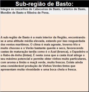 DOP VINHO VERDE BASTO