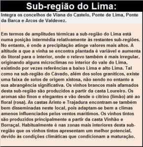 DOP VINHO VERDE LIMA