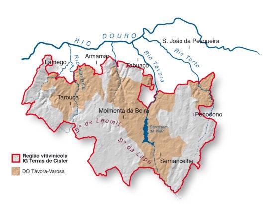 MAPA DA REGIÃO DE TÁVORA VAROSDA (clique para ampliar)
