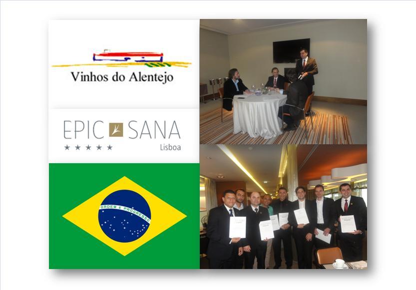 A Comissão Vitivinícola Regional Alentejana recebeu os 8 finalistas apurados na primeira fase ainda em terras brasileiras.