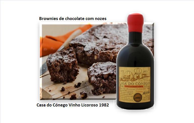 Brownies de chocolate com nozes