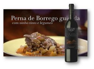 Carne: PERNA DE BORREGO GUISADA COM VINHO TINTO E LEGUMES