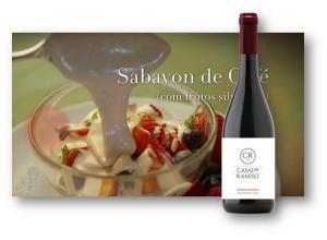 Sobremesa: SABAYON DE CAFÉ COM FRUTOS VERMELHOS