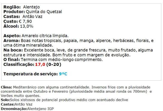 apreciacao Guadalupe Selection Branco 2014