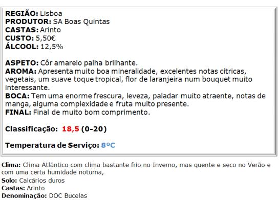 apreciacao Morgado de Bucelas Arinto Branco 2014