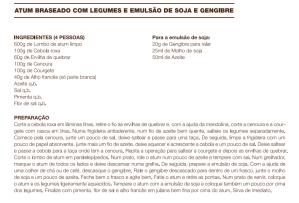 Atum Braseado com Legumes e Emulsão de Soja e Gengibre