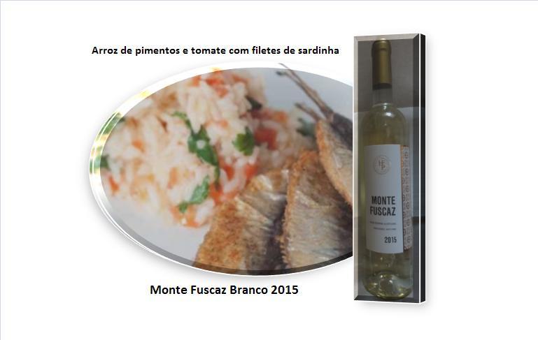 Arroz de pimentos e tomate com filetes de sardinha