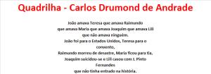 Quadrilha - Carlos Drumond de Andrade