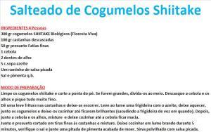 rpSalteado de Cogumelos Shiitake