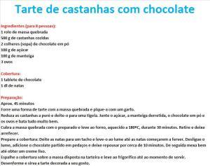 rpTarte de castanhas com chocolate
