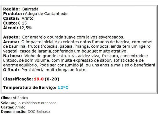 apreciacao Marquês de Marialva Grande Reserva Arinto Branco 2012
