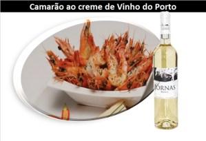 Camarão ao creme de Vinho do Porto