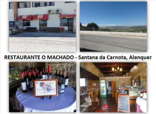 Casal Cabeços, Santana da Carnota 2580 Alenquer (Alenquer) Telefone 263759575 Encerra à 2ª feira a partir das 17.00 horas e 3ª feira