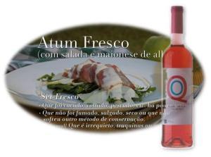 ENTRADA: ATUM FRESCO (COM SALADA E MAIONESE DE ALHO)