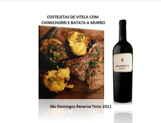 COSTELETAS DE VITELA COM CHIMICHURRI E BATATA A MURRO