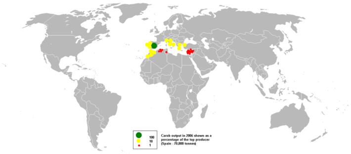 Mapa da produção mundial