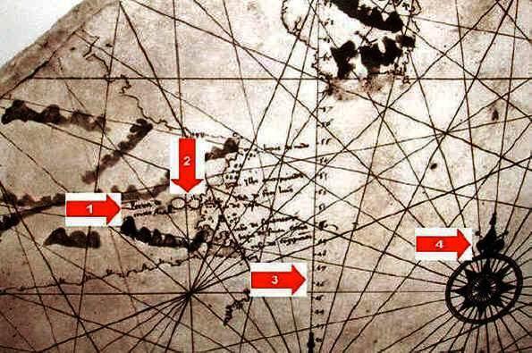Mapa antigo da época