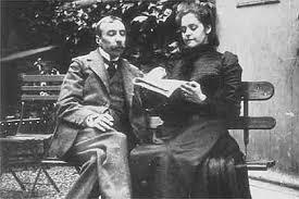 Eça com a esposa, Emília na sua casa em Paris