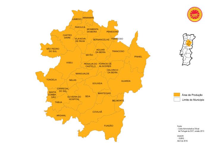 Mapa da Maçã Bravo de Esmolfe DOP