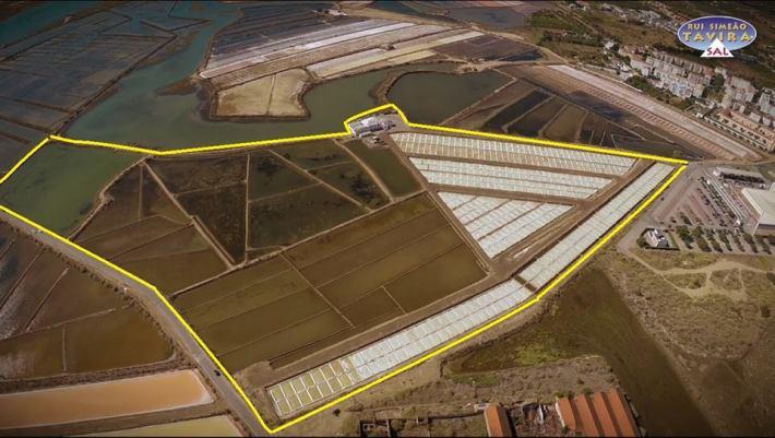 Vista aérea das Salinhas de Rui Simeão