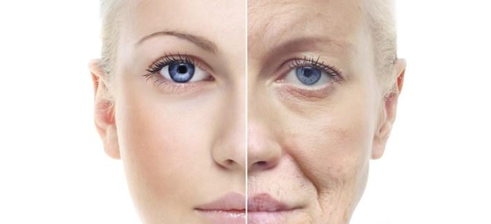 Efeito anti-envelhecimento, com a pele a ficar menos sensível à incidência de raios UV