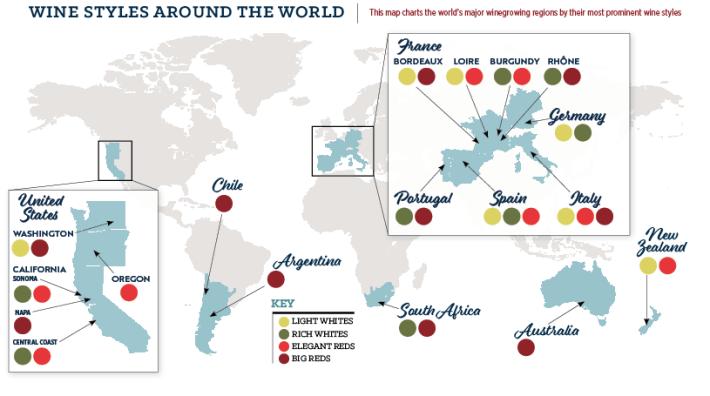 Mapa dos Vinhos distinguidos