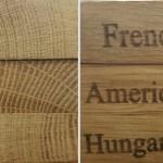 Carvalhos diversos e perfis de madeira