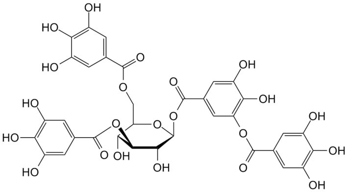 Estrutura química dum tanino