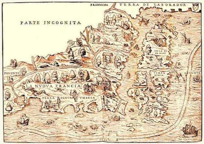 Mapa da Terra Nova do Sec XIV