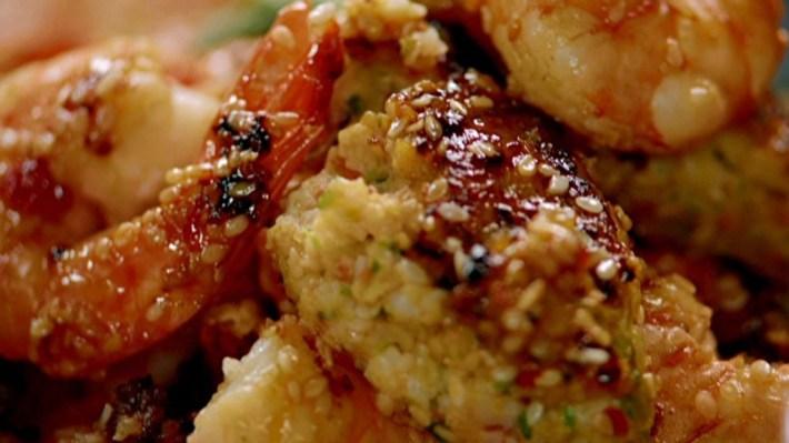 Bolinhos de lula com camarão