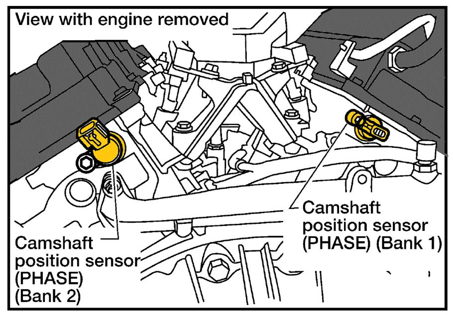 1999 Nissan Altima Knock Sensor Position Diagram