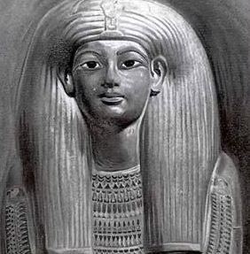 Tutankhamon dipinto da Howard Carter
