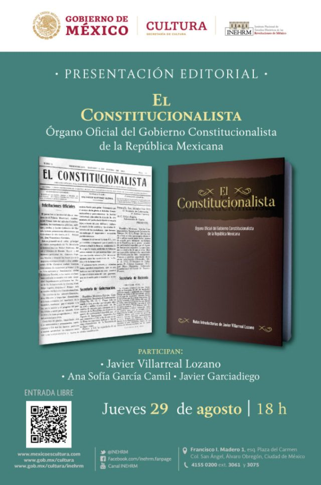 Presentará INEHRM edición facsimilar de periódico de la Revolución