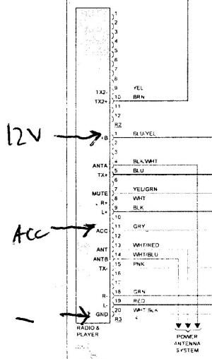 2001 GS300 Radio Circuits wo Mark Levinson (Wiring