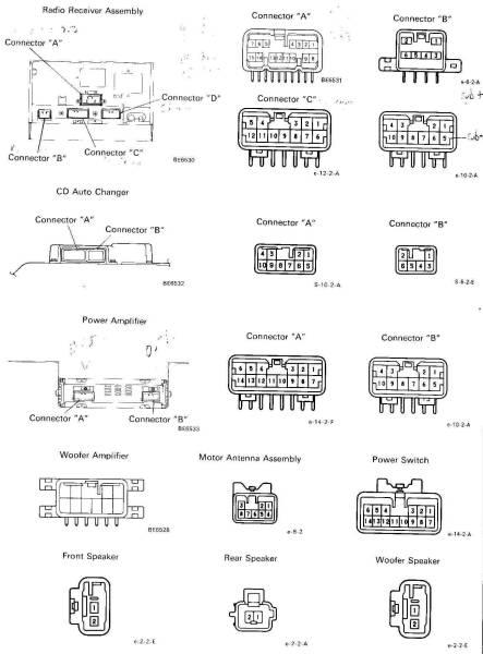 95 toyota 4runner radio wiring color codes 1987 toyota 370z car audio speaker wiring diagrams