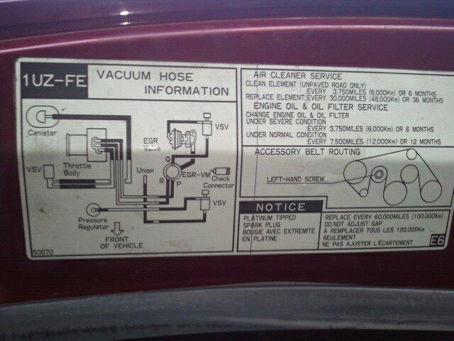 1uz Fe Vacuum Diagram