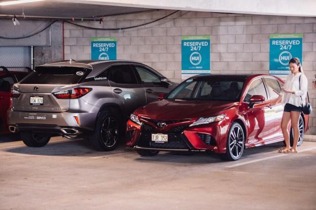 Toyota's Hui car-sharing program in Honolulu, Hawaii.