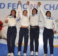 La squadra di spada femminile è campione del mondo
