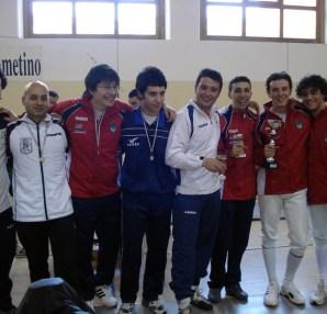 Premiazione atleti spada maschile Lamezia Terme