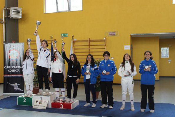 Premiazione Fioretto femminile Coppa Italia