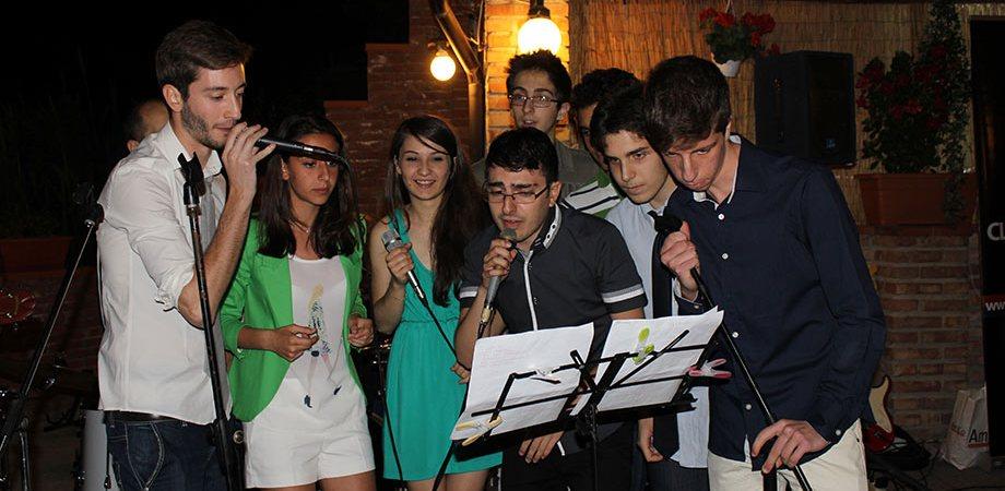 Hooga in concerto alla cena del Club Scherma Cosenza