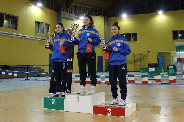 Premiazione Sciabola femminile, Coppa Italia 2015