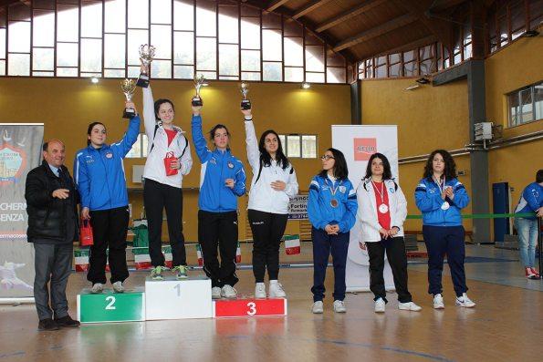 Premiazione spada femminile, Coppa Italia 2015