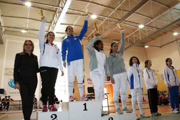 Premiazione Claudia Aiello, campionessa regionale Allieve
