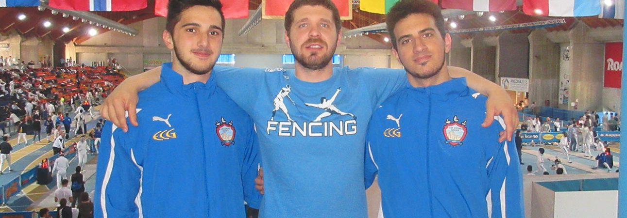 Antonio Zupi e Francesco Perri, istruttori regionali scherma