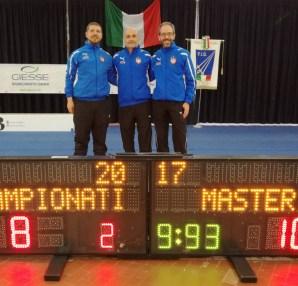 Perri, Monteforte, La Regina - campionati italiani scherma master 2017