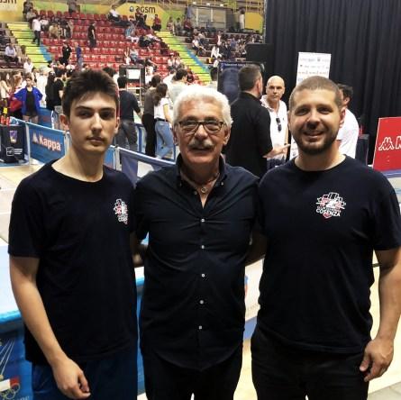 Campionati Italiani Cadetti 2018: Gustavo Valente, il presidente Luigi Perri e il tecnico Marco Perri