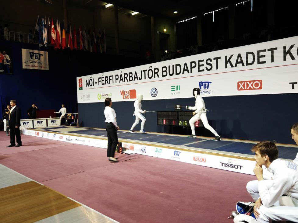Circuito Europeo Cadetti, Budapest 2019: Valente in azione
