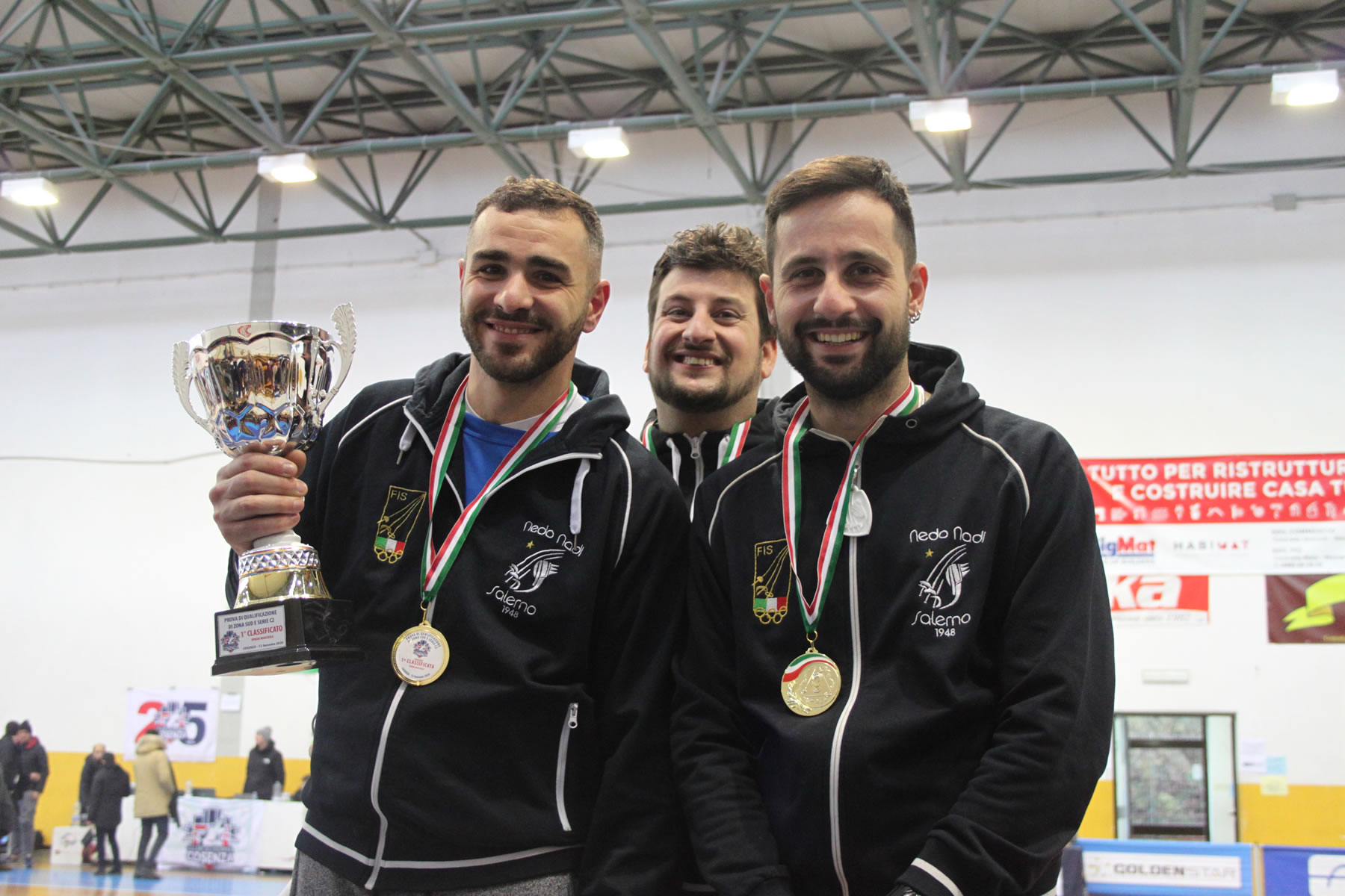 Prova Zona Sud 2020: Nedo Nadi Salerno, squadra campione di spada maschile