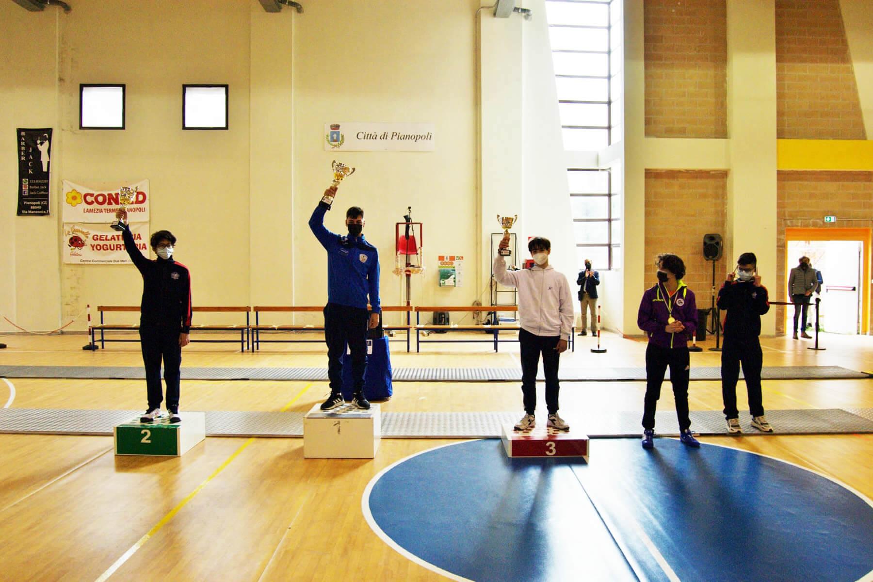 Prova di qualificazione Cadetti e Giovani: il podio di fioretto maschile Under-17